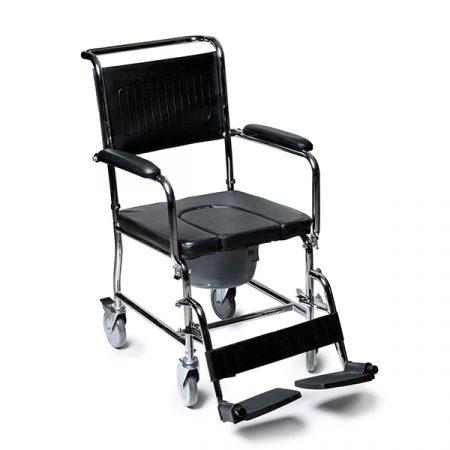 ویژگی ها: بسیار سبک و از جنس استیل (وزن 12 کیلوگرم) دارای چهارعدد چرخ کوچک جهت حمل و نقل آسان مجهز به قطعه و لگن جدا شونده از روی نشیمنگاه دارای تکیه گاه بسیار راحت و بادوام قابلیت تحمل وزن تا 100 کیلوگرم دارای استاندارد : ISO 13485/9001 و CE و FDA